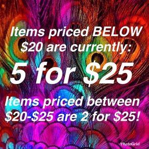 COPY - ❤️⭐️⭐️5 for $25 SALE⭐️⭐️❤️